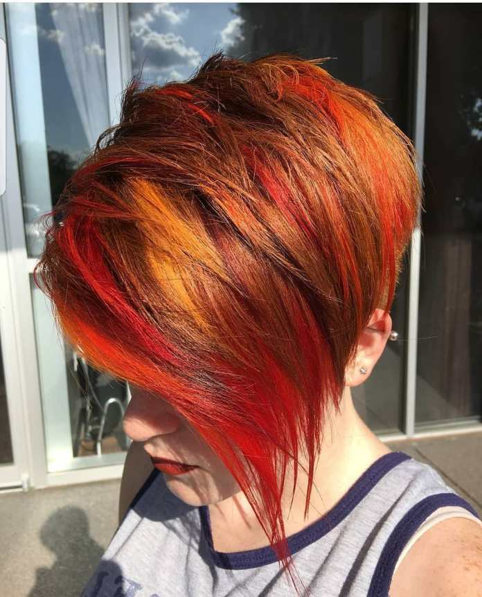 The-Sunrise-Streaks Roaring and Attractive Short Hairstyles 2020