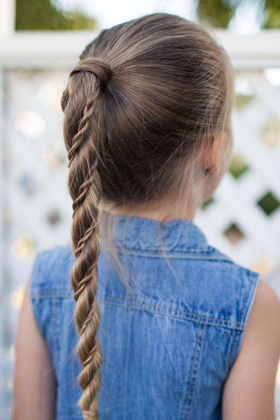 Twist-Wrap-Ponytail 10 super cute braid hairstyles for kids