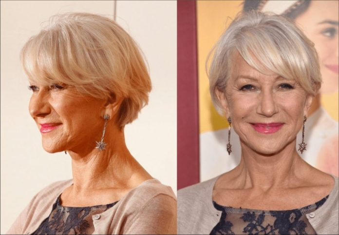 Ultra-Short-and-Ultra-Blonde-Bob Most Youthful Hairstyles for Older Women 2020
