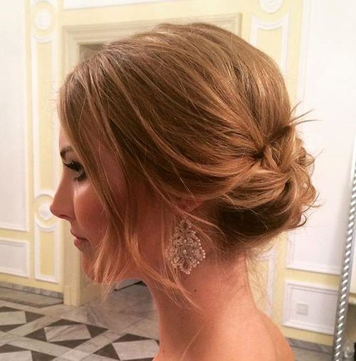 Wispy-Bun-Like-Updo Quick and Easy Short Hair Buns to Try