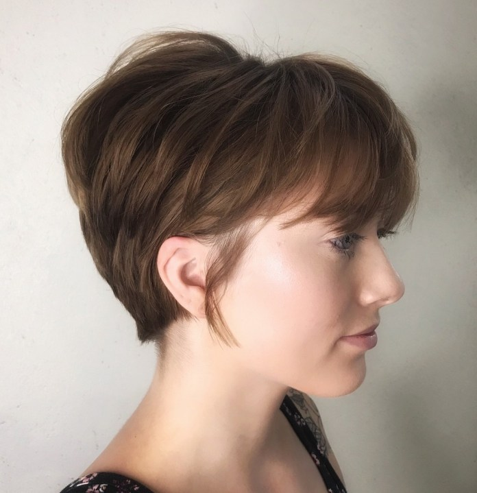 Wispy-Layered-Short-Pixie 15 Graceful Hairstyles for Fine Straight Hair