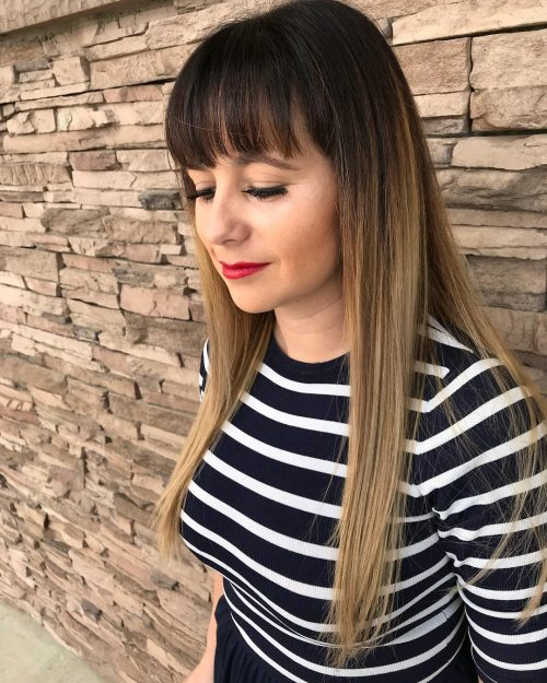 chic-long-ash-blonde-ombre-with-long-bangs-heart-shaped-faces Best Hairstyles for Heart-Shaped faces