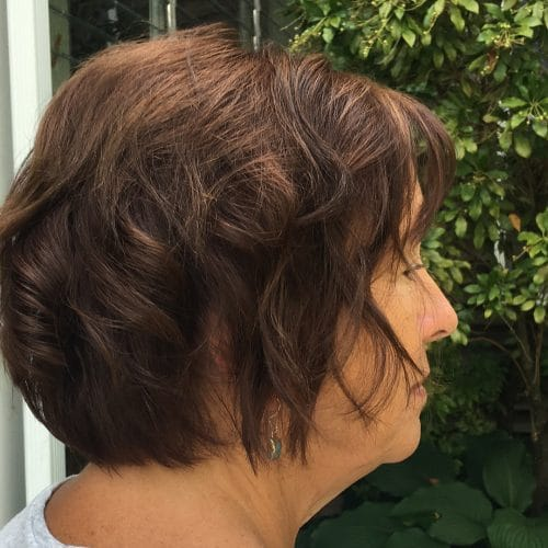 layered_bob_with_waves Short Hairstyles for Older Women Who Want a Timeless Look