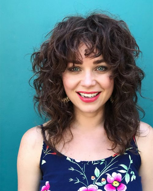 the-best-choppy-layers Top 10 Glamorous layered curly hairstyles