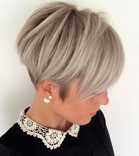 Ash-Blonde-Pixie-with-Nape-Undercut 10 On-trend Pixie haircuts in 2020