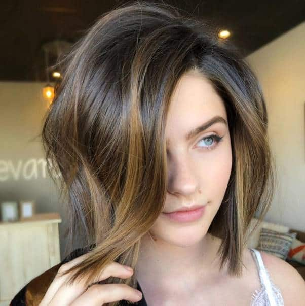 Asymmetrical-Bob-1 Bewitching Brunette Ombre Hair Ideas (2020 Guide)