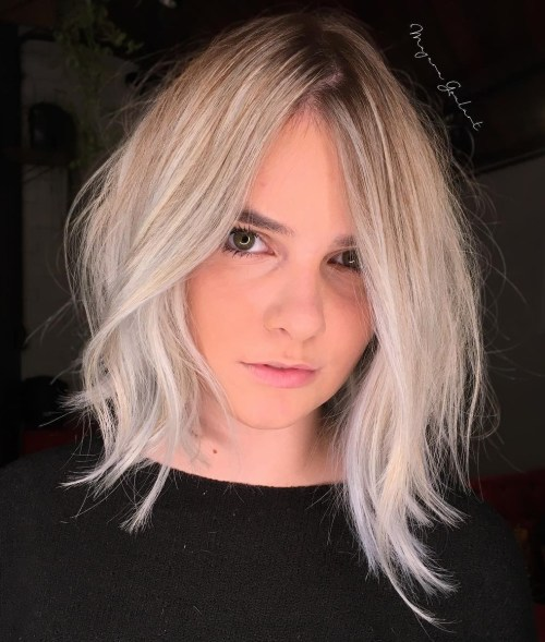 Asymmetrical-Shaggy-Cut 12 On-trend Hairstyles for Oval Faces You'll be dying to try!