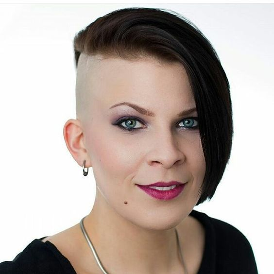 Barely-There-Babe Brilliant Half Shaved Head Hairstyles for Young Girls