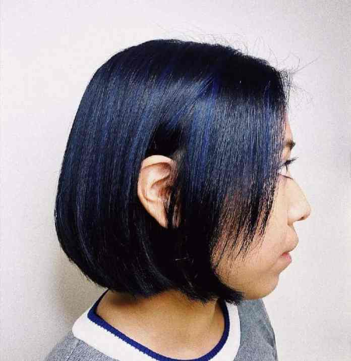 Barely-There-Blue Gorgeous Black Hairstyles with Highlights