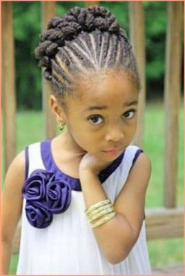 Braided-Updo Cutest Braided Hairstyles for Little Girls Right Now