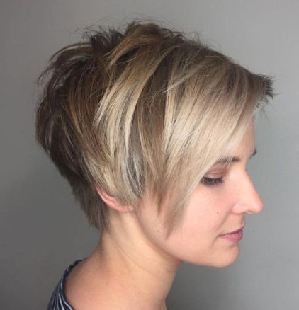 Choppy-Side-Parted-Pixie-Bob 12 Trendy Pixie haircut ideas for your next cut