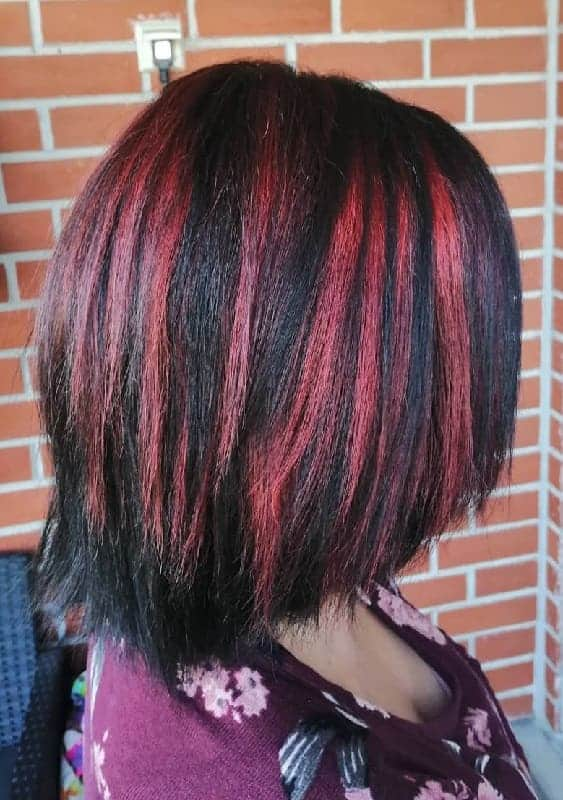 Chunky-Highlights-1 Gorgeous Black Hairstyles with Highlights