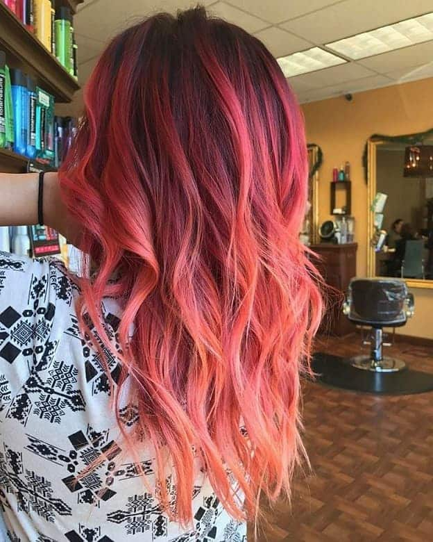 Coral-Highlights Balayage Highlights: Top 10 Styles to Brighten Your Look
