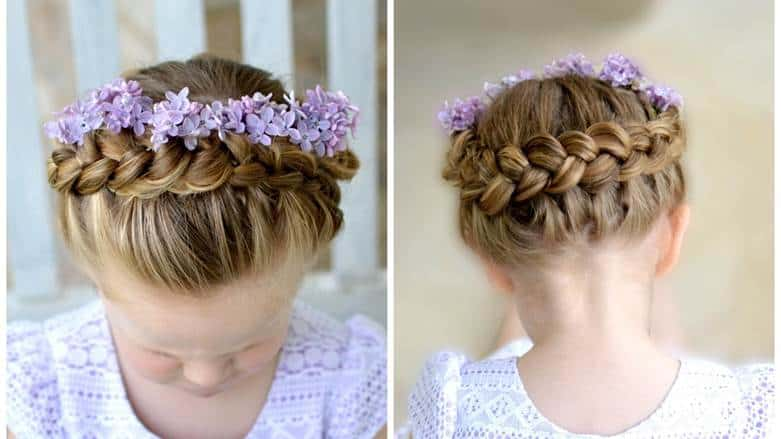 Crown-Braid Cutest Braided Hairstyles for Little Girls Right Now