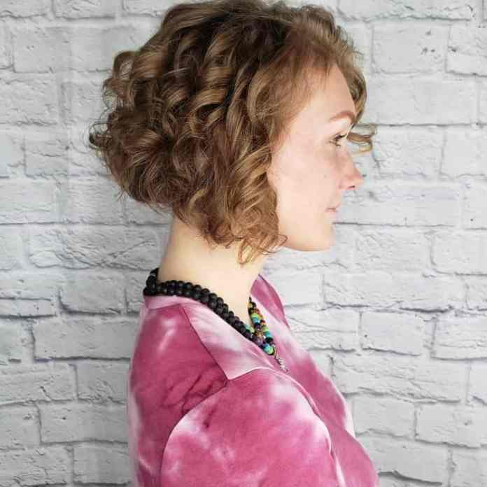 Curly-A-Line-Bob Best A-Line Bobs You Need to Try (Trending for 2020)
