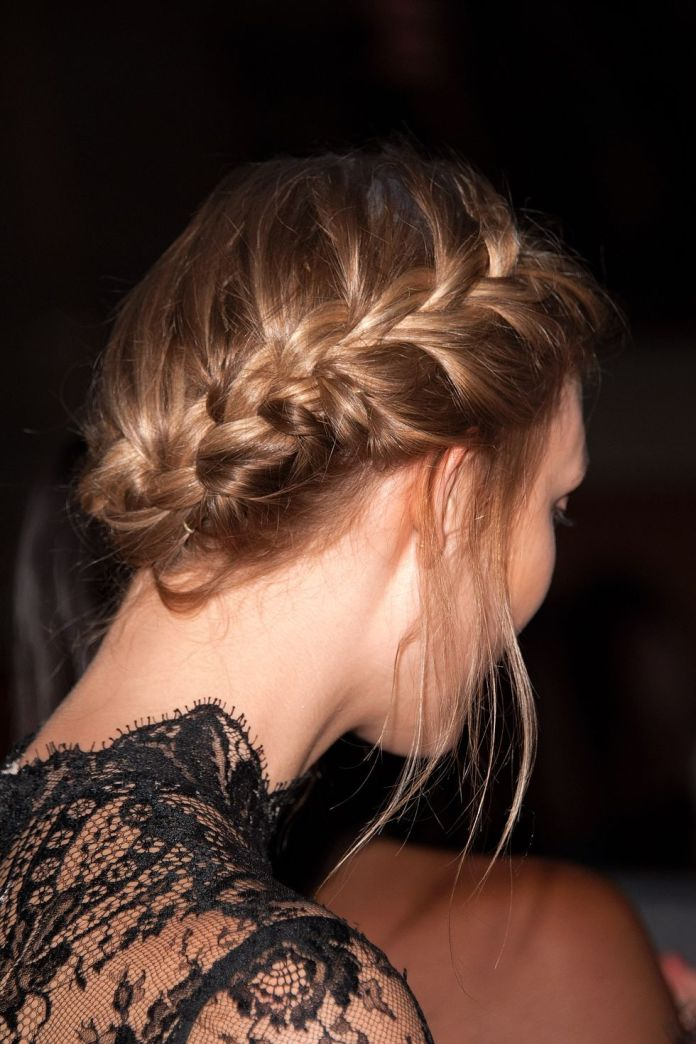 French-Braid-Low-Chignon 10 Best Special Braided Hairstyles to Wear