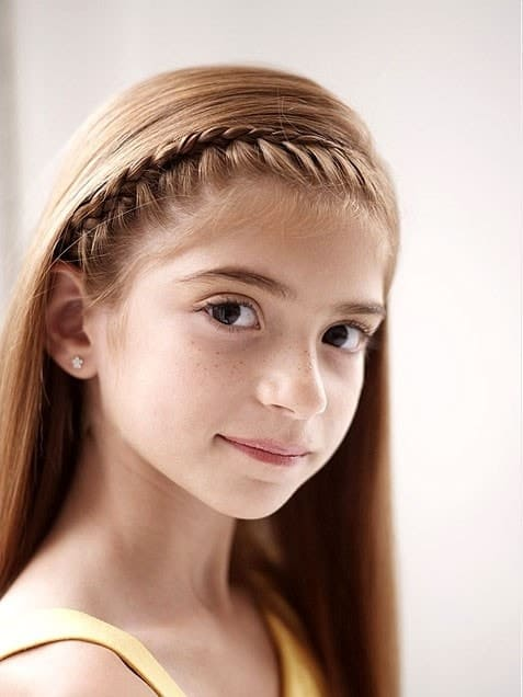 French-Braided-Headband Cutest Braided Hairstyles for Little Girls Right Now