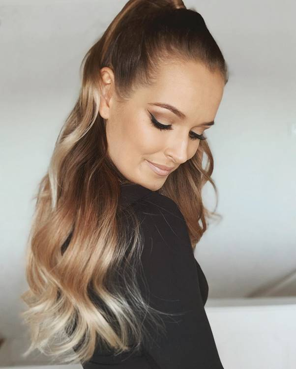Genie-Ponytail-1 Bewitching Brunette Ombre Hair Ideas (2020 Guide)