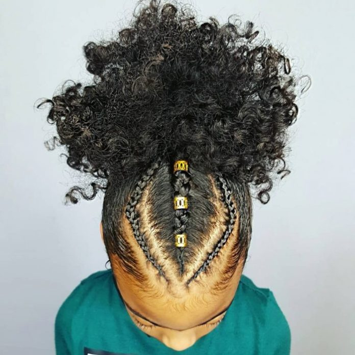 Geometric-Style Cutest Braided Hairstyles for Little Girls Right Now