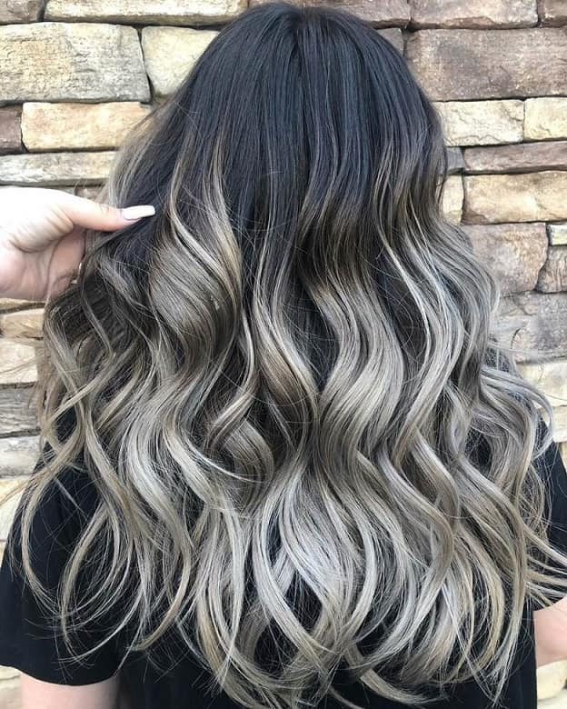 Grey-Highlights Balayage Highlights: Top 10 Styles to Brighten Your Look