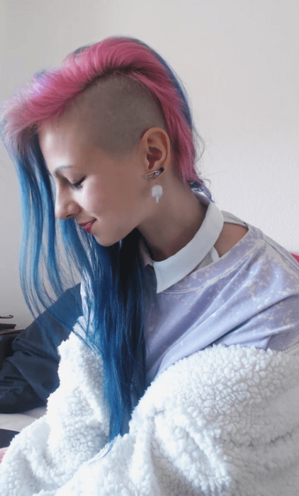 Half-Shaved-Head-Hairstyles-12 Brilliant Half Shaved Head Hairstyles for Young Girls