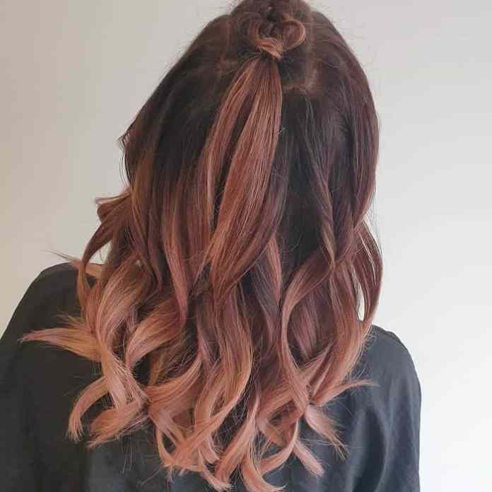 Half-Up-Half-Down-Braids-Style Bewitching Brunette Ombre Hair Ideas (2020 Guide)