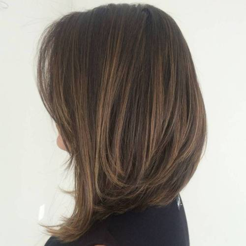 Highlighted-Long-Bob Most Hottest and Sexiest Long Bob Haircuts