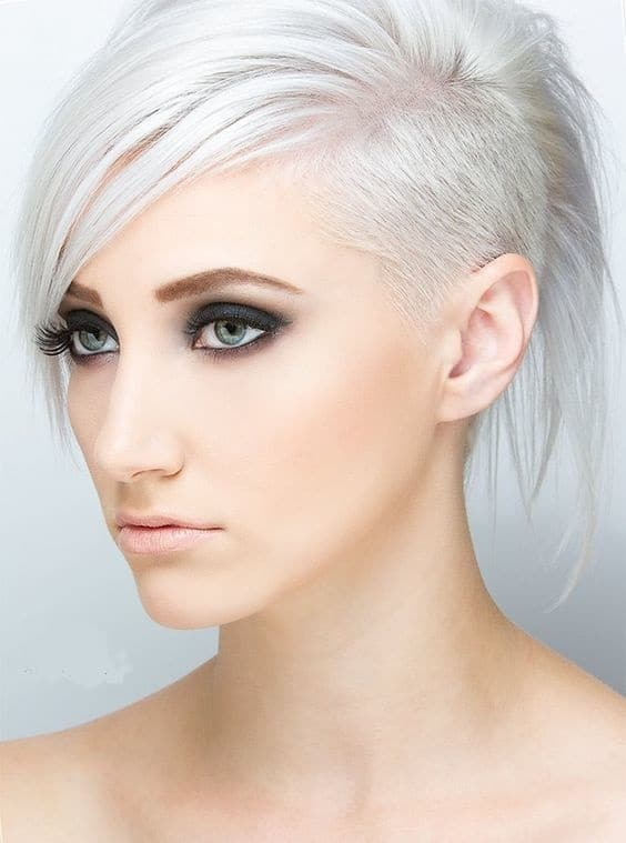 Ice-Blonde-Undercut-Bob Icy Blonde Hairstyles That'll Convince You to Go White
