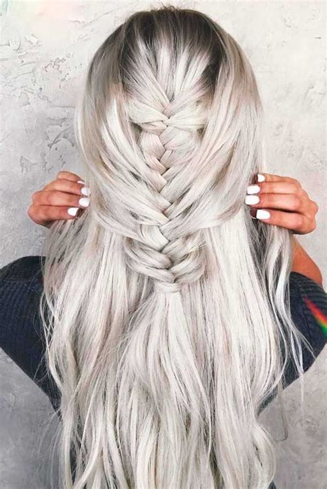Icy-Blonde-Braid Icy Blonde Hairstyles That'll Convince You to Go White