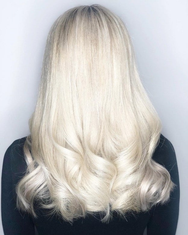 Icy-Long-Blonde-Hair Icy Blonde Hairstyles That'll Convince You to Go White