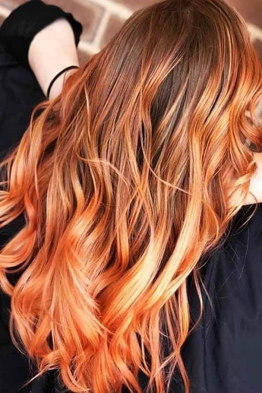 Light-Orange-Brown-Hair Orange Ombre Hair – 12 Revolutionary Ideas to Rock