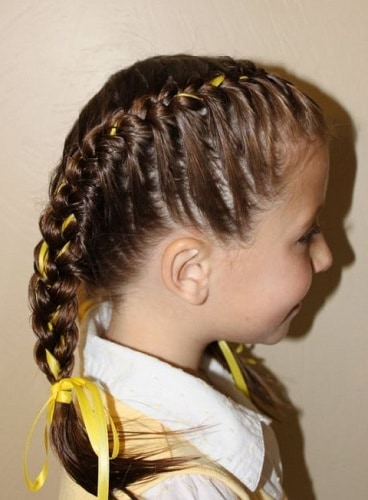Little-Girl's-Braids-with-Beads-10 How to Style Little Girl's Braids with Beads