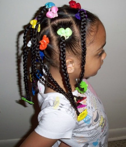 Little-Girl's-Braids-with-Beads-16 How to Style Little Girl's Braids with Beads