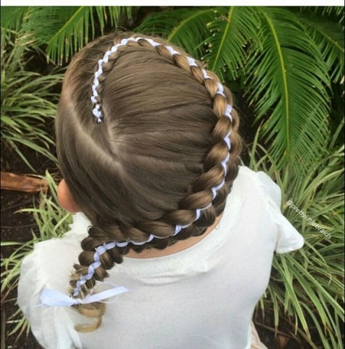 Little-Girl's-Braids-with-Beads-22 How to Style Little Girl's Braids with Beads