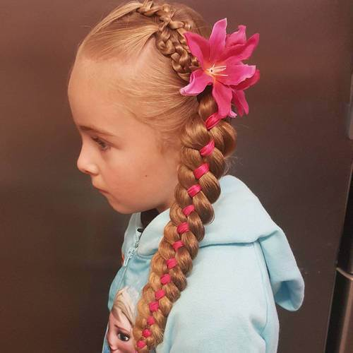 Little-Girl's-Braids-with-Beads-35 How to Style Little Girl's Braids with Beads