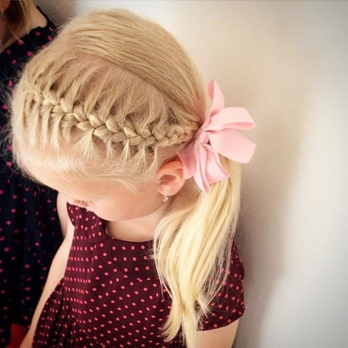 Little-Girl's-Braids-with-Beads-37 How to Style Little Girl's Braids with Beads