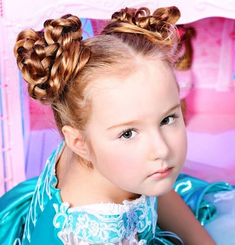Little-Girl's-Braids-with-Beads-6 How to Style Little Girl's Braids with Beads