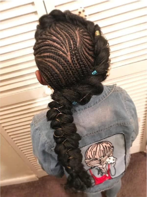 Little-Girl's-Braids-with-Beads-73 How to Style Little Girl's Braids with Beads