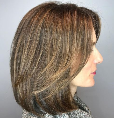 Lob-with-Swoopy-Face-Framing-Layers-1 14 Sensational Medium Length Haircuts for Thick Hair