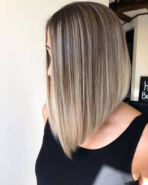 Long-inverted-bob-with-layers-for-straight-hair Hottest inverted Bobs Hairstyles 2020