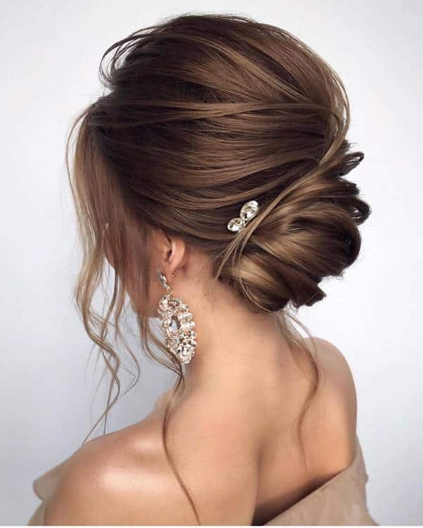 Loose-French-Bun Bewitching Brunette Ombre Hair Ideas (2020 Guide)