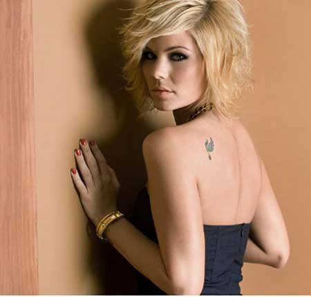 Lovely-Blonde-Layered-Bob-Hairstyle Bob Hair Styles for 2020