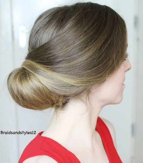 Low-Twisted-Chignon 14 Gorgeous Wedding Hairstyles for Long Hair
