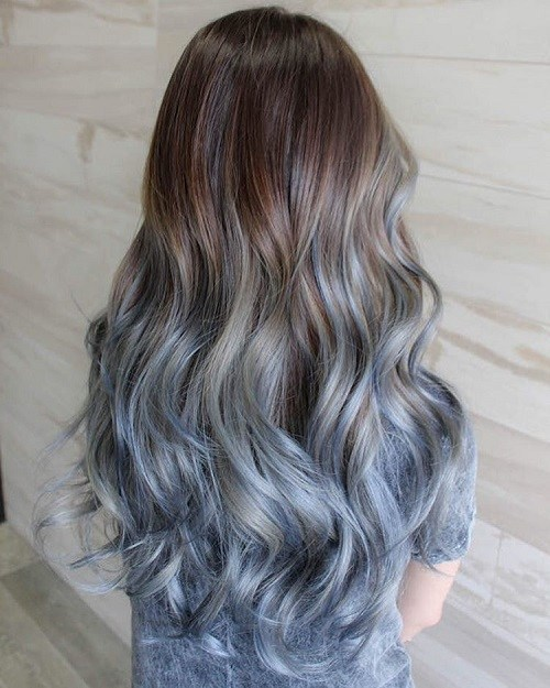 Luscious-Locks-with-Pastel-Ombre 14 Eye-catching Blue Ombre Hairstyles
