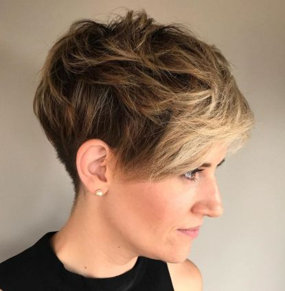 Messy-Tapered-Pixie 10 On-trend Pixie haircuts in 2020