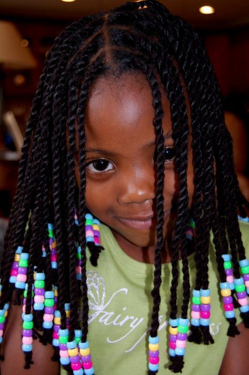 Multi-Coloured-Magic Cutest Braided Hairstyles for Little Girls Right Now
