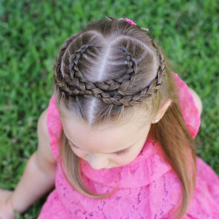 Overlapping-Crescents Cutest Braided Hairstyles for Little Girls Right Now