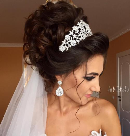 Piled-Up-Formal-Hairstyle 14 Gorgeous Wedding Hairstyles for Long Hair