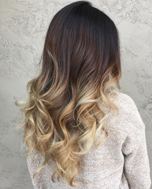 Platinum-Ombre-Curl 14 Best Ombre Hair Color Ideas for all hair color