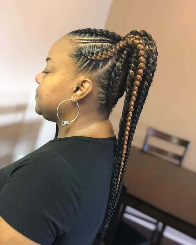 Ponytail-Jumbo-Braids Stunning Ponytail Hairstyles for Black Women